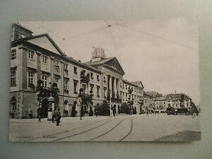 Ansichtskarte-Karlsruhe-Rathaus-1907-Bauphase-am-Dach-wohl-selten