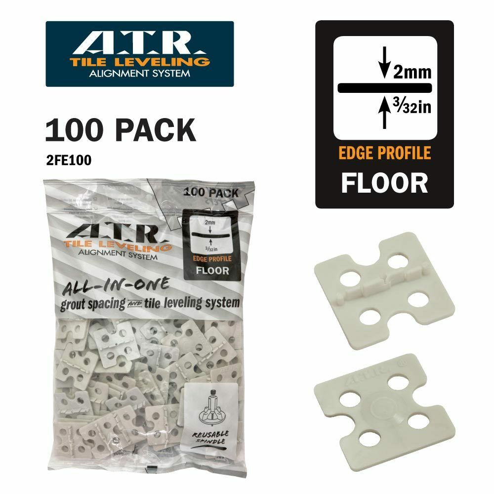 ATR Tile Leveling Alignment System Floors  3 32  (2mm) Straight Spacers ONLY