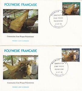(f) Polynesie Francaise 462-63 Fdc Pirogue Bateau Shio Boat 1986 PréVenir Le Grisonnement Des Cheveux Et Aider à Conserver Le Teint