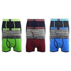 Mens Boxers Crosshatch Shorts Chochan Trunks Underwear Gift Set 3 Pack