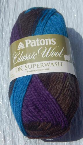 New /& Smoke Free Home Patons Classic Wool DK SUPERWASH Yarn in Welsh Coast