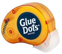 Glue Dots Removable Dot N' Go Dispenser - 6 Pack, New, Free Shipping