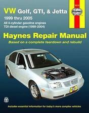 VW Golf, GTI, & Jetta, '99 Thru '05, Automotive Repair Manual (all 4-cylinder ga