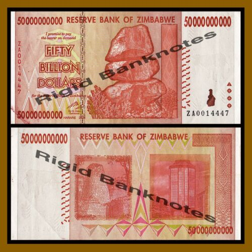 2008 P-87 Replacement Zimbabwe 50 Billion Dollars Circulated ZA