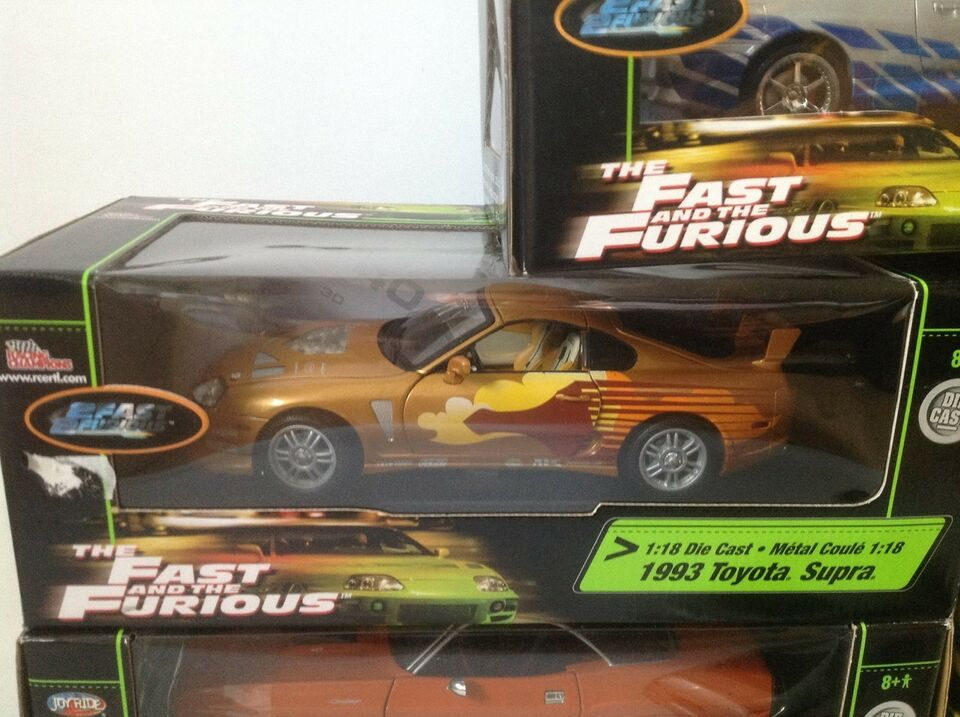 Modelbil, Fast and Furious samling 1:18, skala 1:18