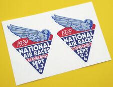 National Air Races 1939 Rétro Style Vintage Autocollants 1 Paire