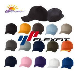 Image is loading 12-Classic-Flexfit-Blank-Baseball-Cap6277-Hat-Wholesale- 93215e25e96