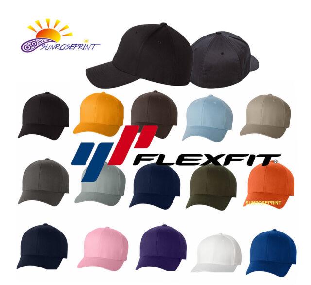 be67d89f3 12 Classic Flexfit Blank Baseball Cap6277 Hat Wholesale Bulk Lot All Colors