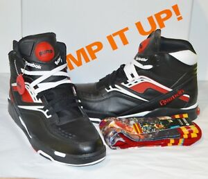 check out cbe3f 6c904 Details about New Reebok Twilight Zone Pump Black Red White 13 Stance Dominique  Wilkins lot
