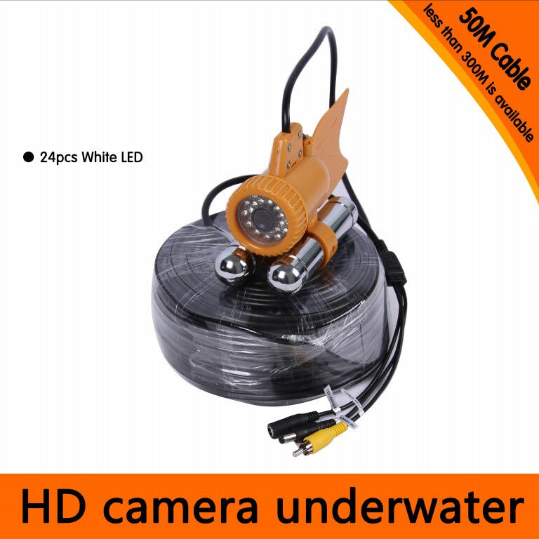 Cavo 165ft 50M SOTT 'ACQUA GHIACCIO Ocean Pesca 600TVL fotocamera Fish Finder DVR Video