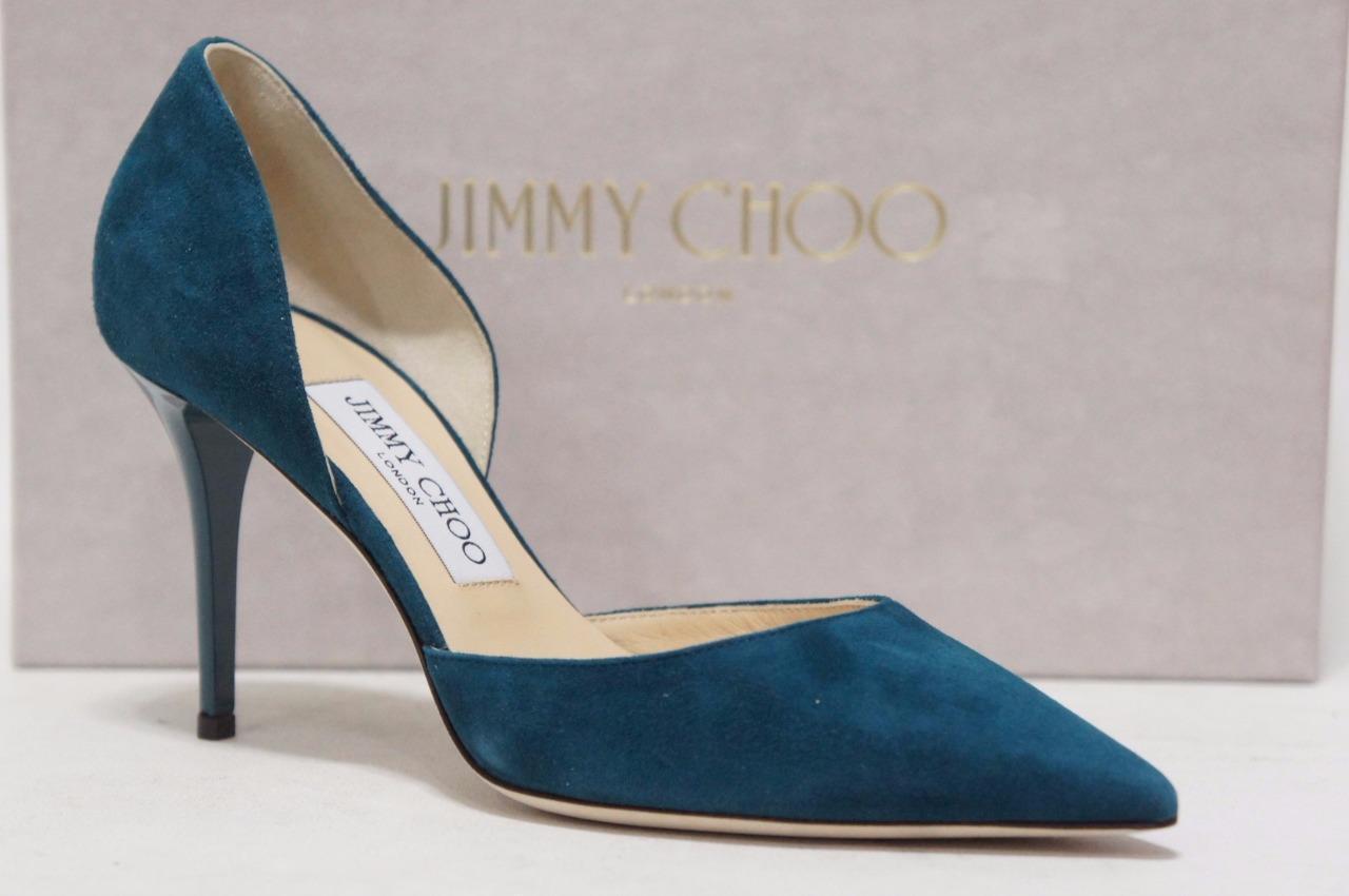 Ritorno di 10 giorni JIMMY CHOO CHOO CHOO ADDISON SUEDE D'ORSAY  PUMPS HEEL scarpe 36 5.5  595  grande vendita