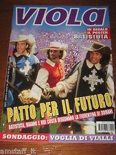 LA FIORENTINA RIVISTA VIOLA=1996/5=RUI COSTA=BAIANO=POSTER GABRIEL BATISTUTA=