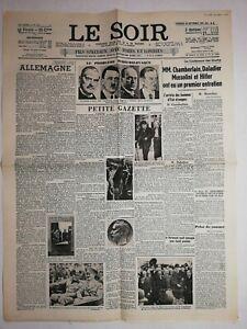 N1172-La-Une-Du-Journal-Le-Soir-30-septembre-1938-chambertin-Hitler-Mussolini