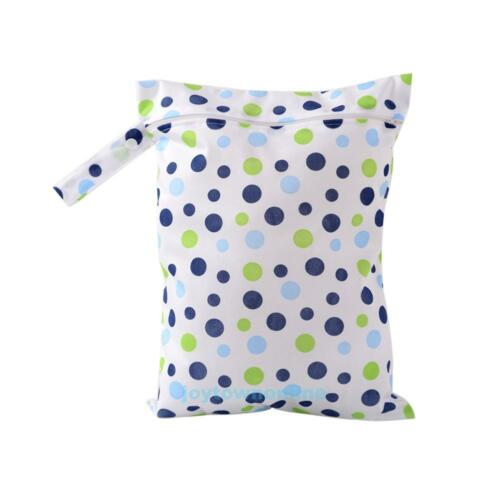 Waterproof Reusable Baby Diaper Bag Washable Wet Dry Cloth Zip Nappy Organizer