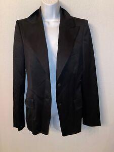 GUCCI-EUC-womens-black-blazer-size-42-made-italy-lana-wool