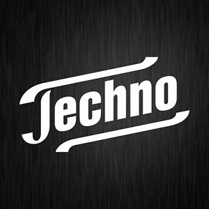 Techno-Comedy-Spass-Satire-Fun-Weiss-Fahrzeug-Auto-Vinyl-Decal-Sticker-Aufkleber
