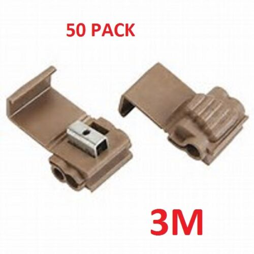 3M SCOTCHLOK LINE SPLICERS//ADAPTERS BROWN 14-18//10-12 GAUGE #3M902-50PK tm