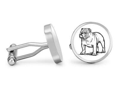 English Bulldog Men/'s Cufflinks Cuff Links Set