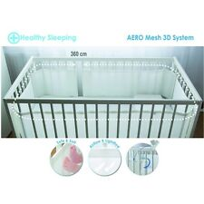 Bump Air Breathable Baby Cot Bumper Bed Surround Aero Mesh 3D ThermoActive 360cm