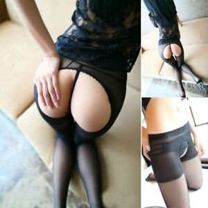 Open-Crotch-Soft-Mesh-Stocking-Underwear-Pantyhose-Tights-Silk-Stockings