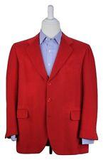 * GORDON YAO * Bespoke Bright Red Thick 100% Pure VICUNA Sportcoat Blazer 44R