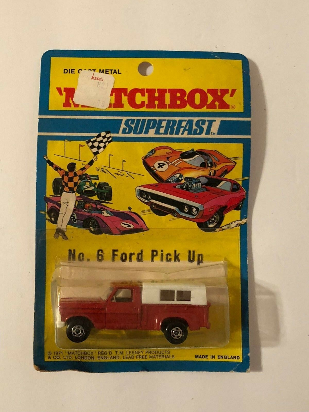 Matchbox Superfast 6 Ford Pick Up Truck 1971 Blister Pack Brand New Sealed