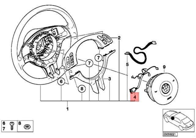 Bmw Oem E46 Steering Wheel Wire Wiring Harness Sport Clock Slip Ring Airbag Srs For Sale Online Ebay