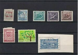 ISLAND-STAMPS-ON-STOCK-CARD-REF-1564
