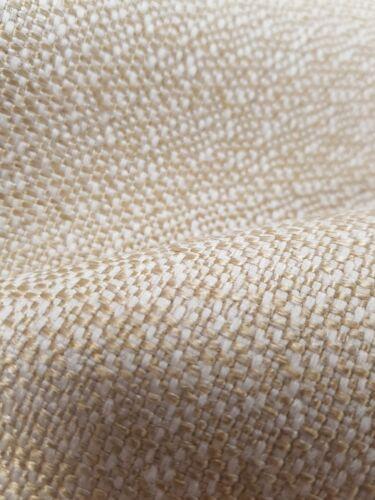 Amarillo Oro Llano Texturizado Lana Look Cojín de Cortina de tapicería de tela artesanal