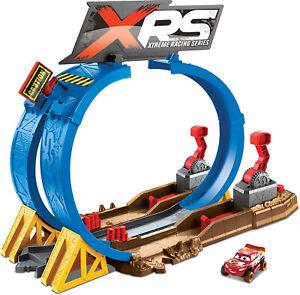 Disney-Pixar-Cars-XRS-Mud-Racing-Crash-Challenge-Playset-Kid-Toy-Gift
