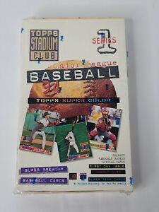 1994 Topps Stadium Club MLB Baseball Card Sealed box Series 1 Factory Sealed