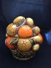 Vintage Inarco E3354 covered candy dish oranges lemons fruit design covered jam