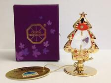 New 24K Gold Plated Christmas Tree Ornament Spectra Crystal By Swarovski Xmas