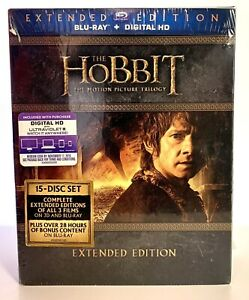 Rare-15-Disc-Box-Set-The-Hobbit-Trilogy-Extended-Edition-Blu-Ray-Digital-HD