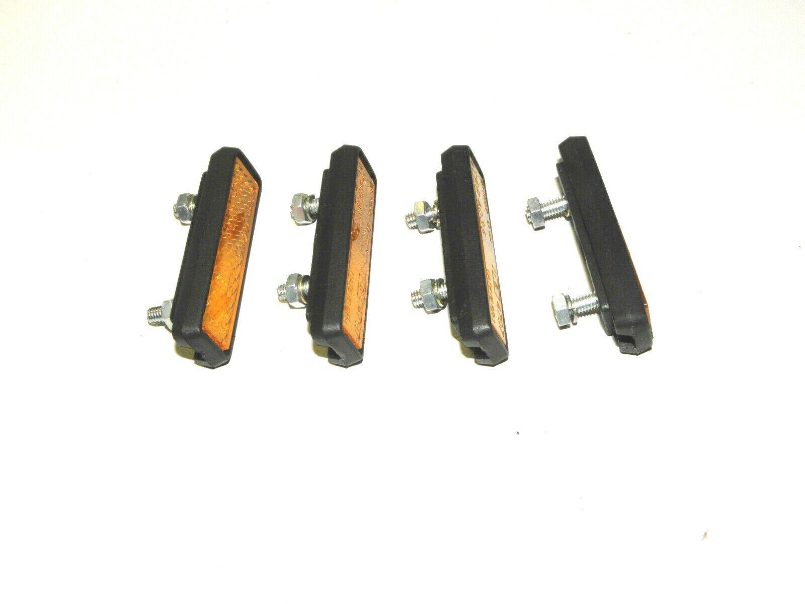 Pedal reflectores 4 set para atornillar pedal reflectores catadióptricos 06925 W