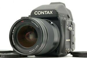 EXC-Contax-645-mit-Carl-Zeiss-45mm-f2-8-Objektiv-120-220-Film-Back-FRM-Japan