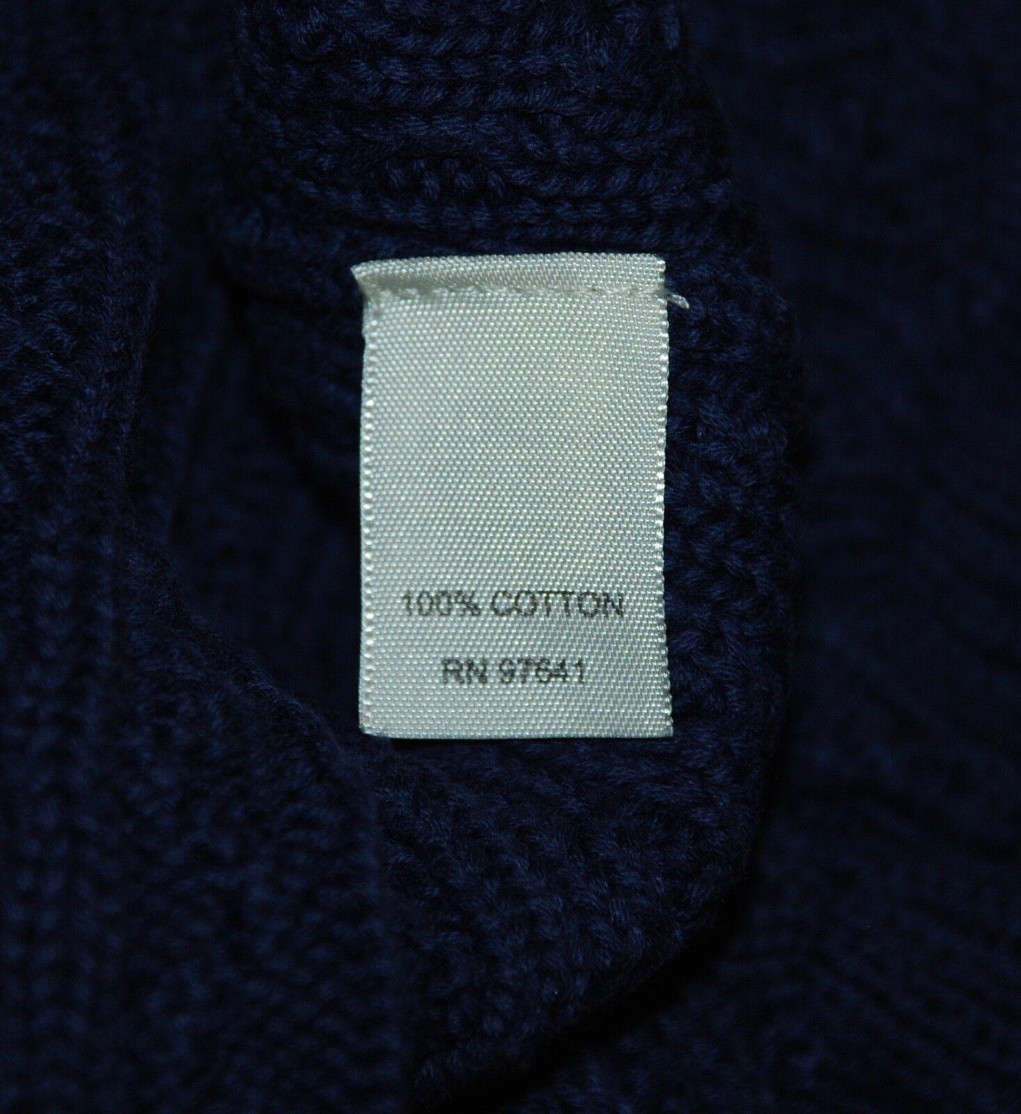 Large NWOT J. Jill Dark bluee Catarina Ruffle Cable Cardigan Cardigan Cardigan Bell Sleeves d575f7