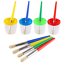 VEYLIN-4-Pieces-Paint-Brushes-and-4-pieces-Paint-Pot-with-Lids-Kids-Children thumbnail 1