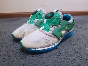 best sneakers 3de31 4dd5f Image is loading Puma-Disc-Blaze-Lite-034-White-Green-Blue-