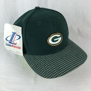 4f2e042d Details about VTG 90s Green Bay Packers Strapback Hat Logo Athletic NFL  Football Checkered NOS