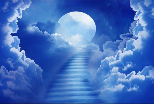 3D Wolken im Mond 024949 Fototapeten Wandbild Fototapete BildTapete Familie DE