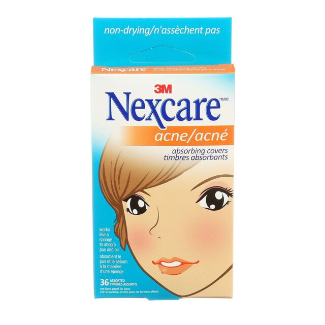 Nexcare Acne Absorbing Covers, Two Sizes, 36 Count