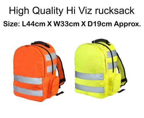 Work Backpack Hi Vis Viz Rucksack High Visibility Hiking Walking Sports Work Bag