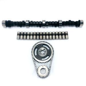 Chevy-SBC-350-5-7L-HP-RV-420-433-Camshaft-Lifters-amp-Timing-Kit-Torque-MC1730