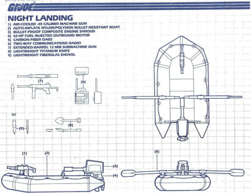 JOE series 4 Vintage bleus des instructions originales nuit Landing G.I