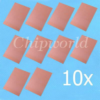 10pcs One-Side Copper Clad 50x70x1.5mm Single PCB Board Glass Fiber 5*7cm