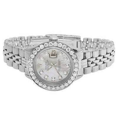 Ladies Stainless Steel 26MM Rolex Datejust Jubilee Bracelet Diamond Watch 2.5 Ct