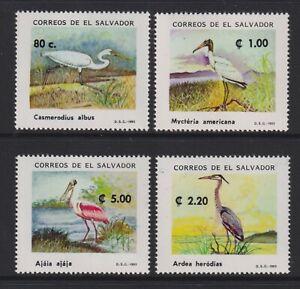 El Salvador - 1993, Birds set - MNH - SG 2233/6