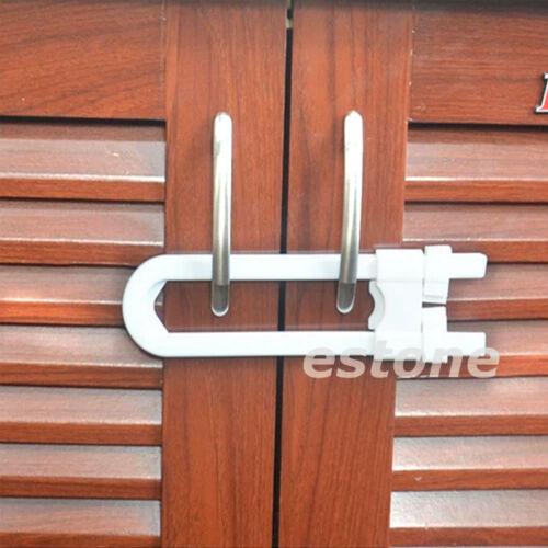 Lots Child Infant Baby Kid Safety Drawer Door Cabinet Cupboard U Shape Lock