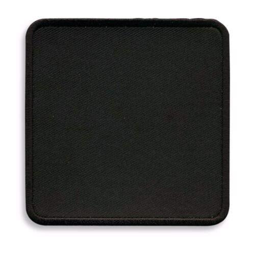 Black 3 Inch Square Blank Patch With Black Border
